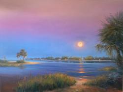 Indigo Moon 30x40 Oil on Canvas