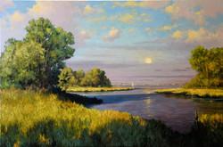H Bartlett - Tidal River, oil on linen 3