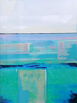 H Bartlett - Off the Flats, acrylic gall