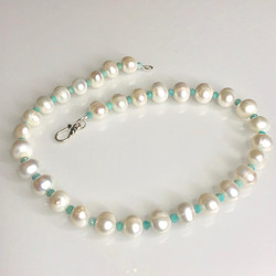 FW pearl and amazonite