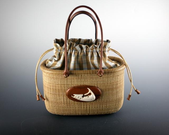 Tote basket 10 inch - mahogany 2