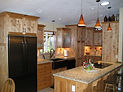 Vetrazzo Countertop, Custom Cabinets, Tile, Cabin Kitchen