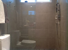 Glass Shower Door, Grohe Shower Fixtures, Toto Toilet, Custom Tile Shower, Modern Shower, Modern Bathroom