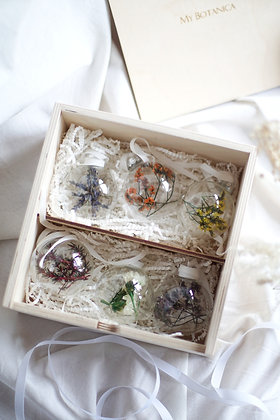Набор Сhristmas Ornaments №1 с цветами