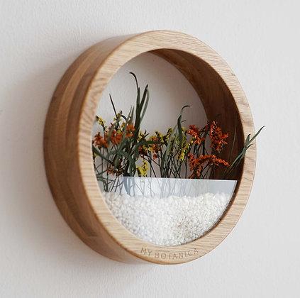 Кашпо Plants Bag L с цветочной композицией