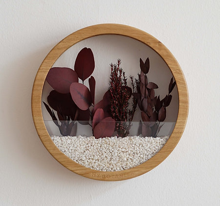 Кашпо Plants Bag L с бордовой композицией