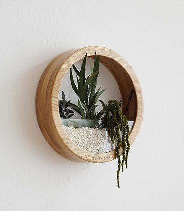 Кашпо Plants Bag M с зелёной композицией