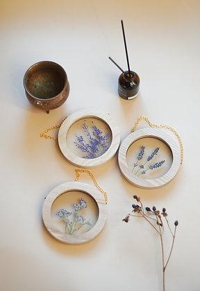 Set of 3 Lavender Botanical Postcards