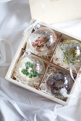 Набор Сhristmas Ornaments №2 с цветами