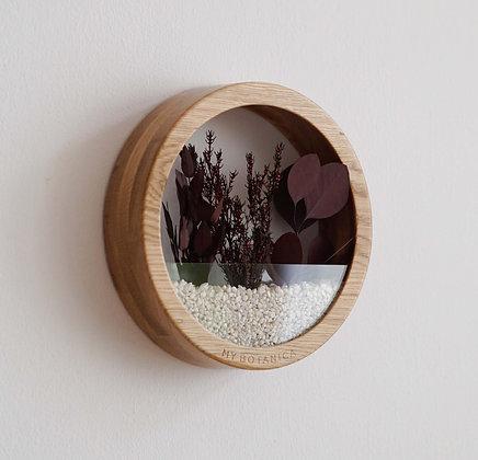Кашпо Plants Bag M с бордовой композицией
