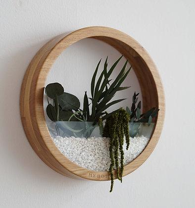 Кашпо Plants Bag L с зелёной композицией