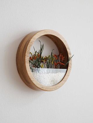 Кашпо Plants Bag M с цветочной композицией