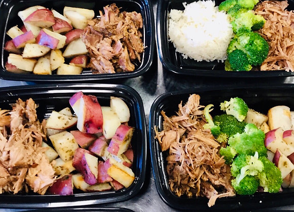 Shredded Pork with Vegetables and your choice of carbs