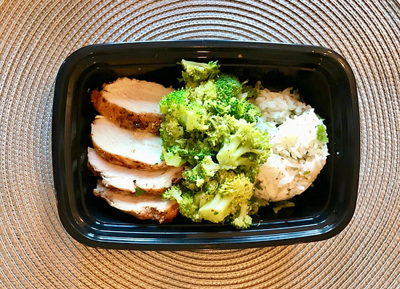 Chicken rice and Vegetables