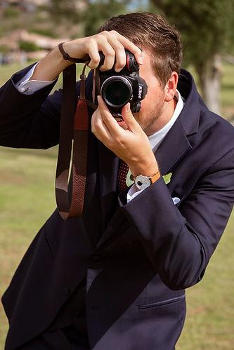 Photographer, wedding, camera, Nikon, groom