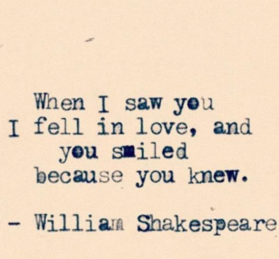 'Shakespeare Love Quotes' - Photo credits Pinterest
