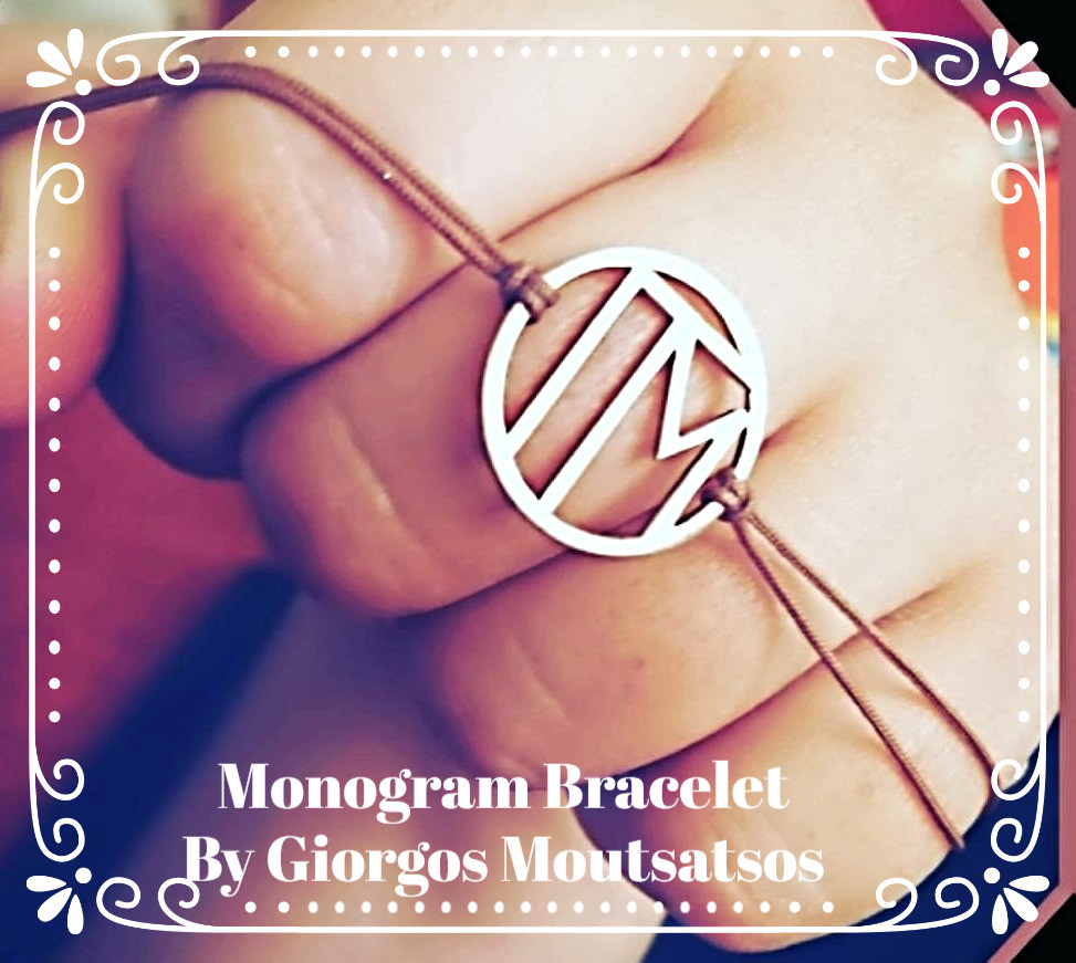 Monogram Bracelet By Giorgos Moutsatsos - Photo credit Mary Samou