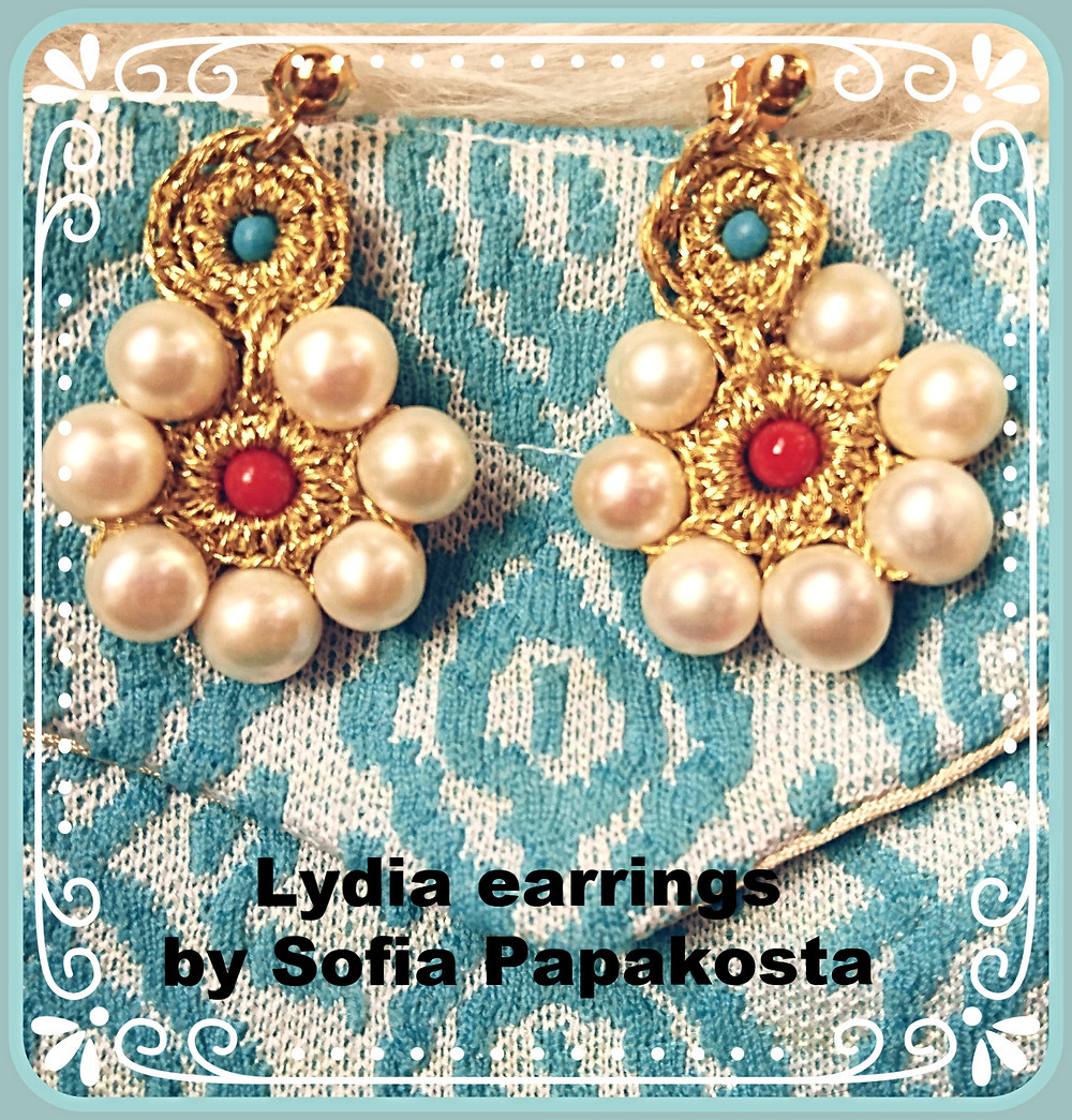 Lydia earrings By Sofia Papakosta - Photo credit Mary Samou