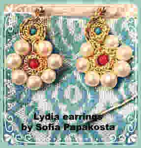 Lydia earrings By Sofia Papakosta - Photo credit Mary Samou