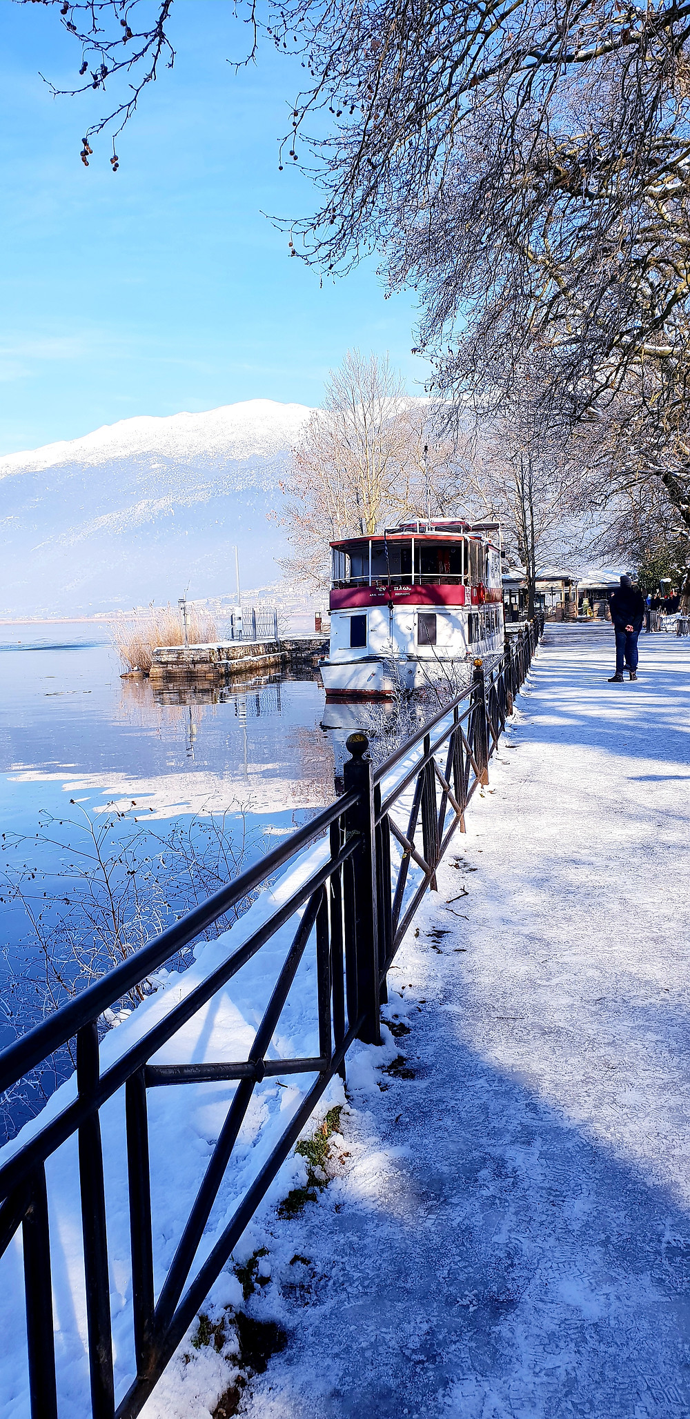 Snow by the lake - Photo by Mary Samou