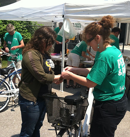 Pedal & Park provides free bicycle parking at public events