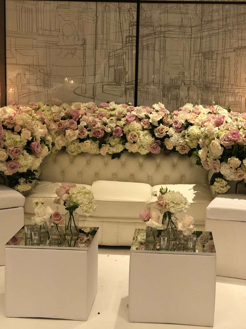 Dreamy selfie floral sofa at The Corinth