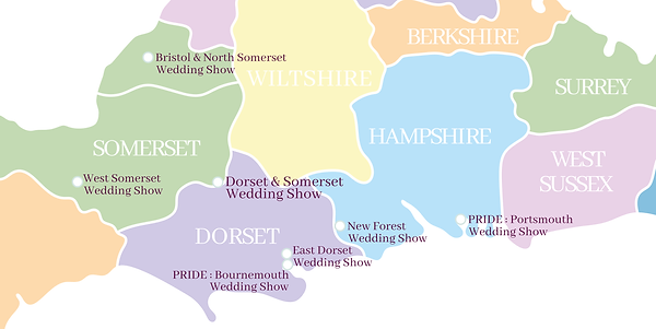 Lily & Lottie Wedding Shows Map