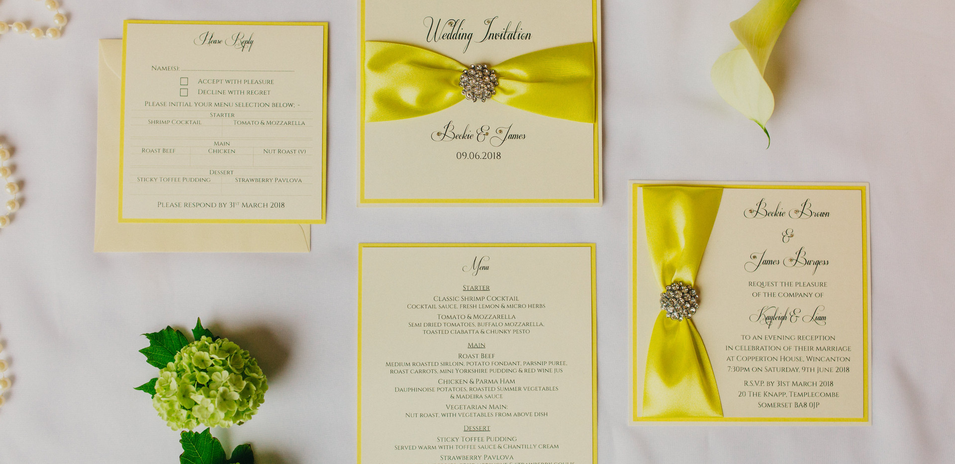 Lily & Lottie Stationery - Wedding Invitations Dorset