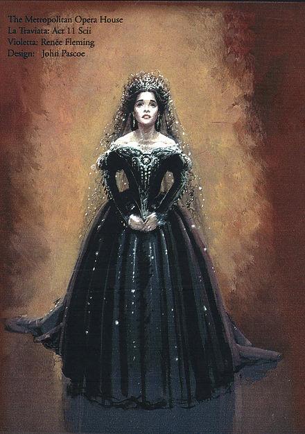 Traviata - Act II Sc ii Costume design_e