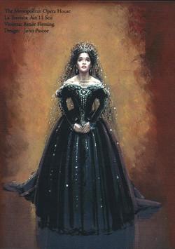 Traviata - Act II Sc ii Costume design