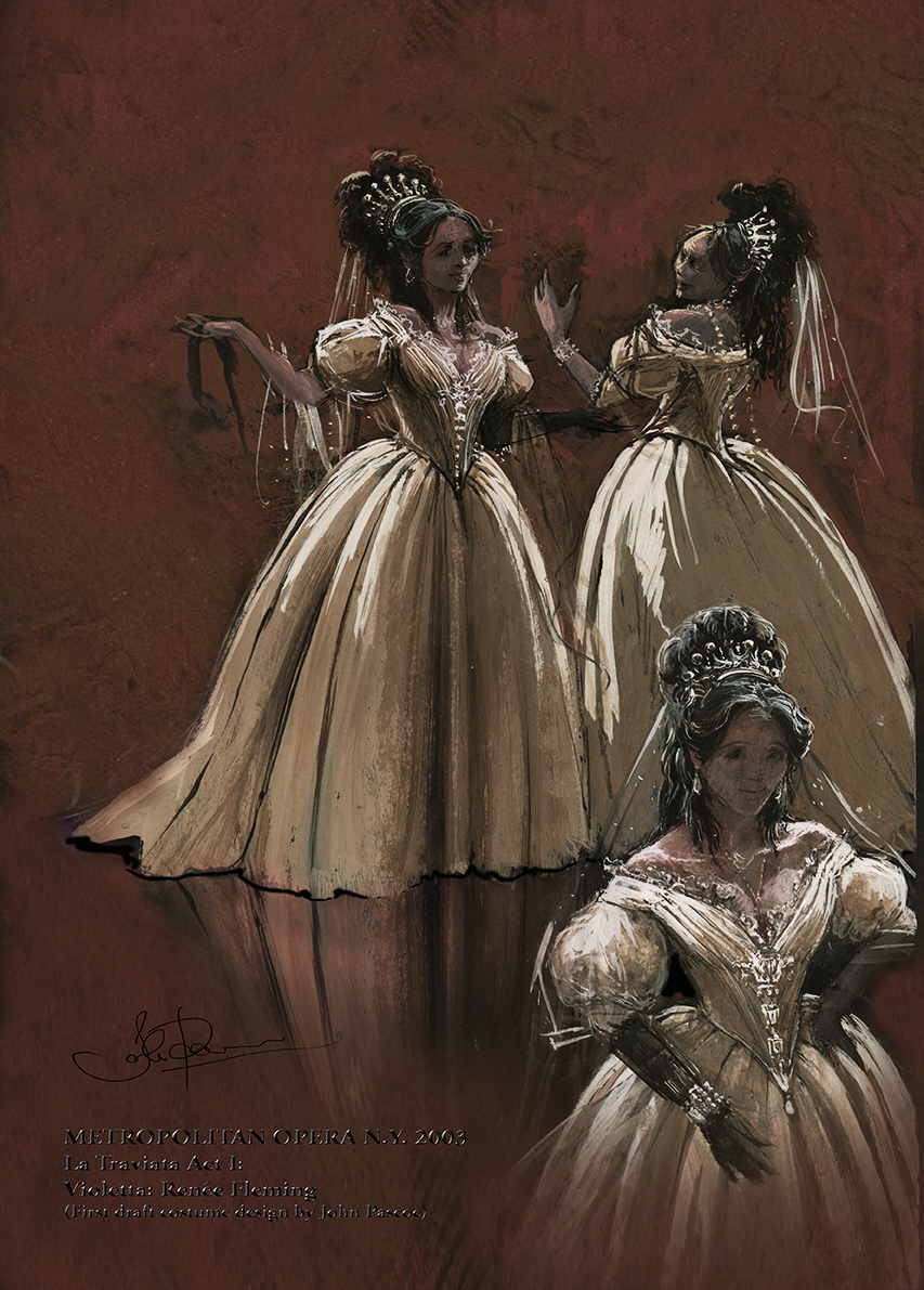 La Traviata. Act I initial concept.