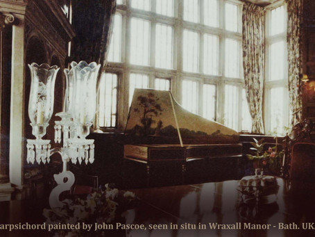 Harpsichords painted by John Pascoe