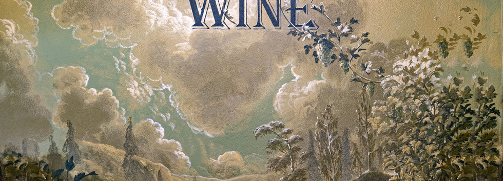 The mural above the excellent wine section was a kind of bachanalian dream of consuming all of the local wines for which the area around Chelan is justly famous.