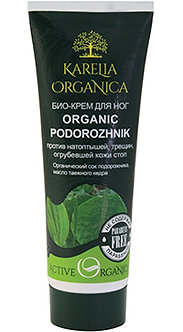 Био-крем для ног «Organic Podorozhnik» против натоптышей, трещин