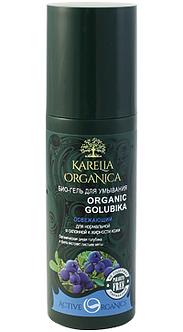 Био-гель для умывания «Organic golubika» освежающий серии «Karelia Organica»