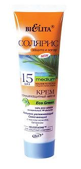 Крем солнцезащитный SPF 15 Eco Green Активно увлажняющий смягчающий