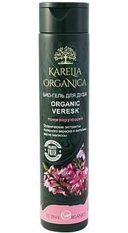 Био-гель для душа «Organic Veresk» тонизирующий серии «Karelia Organica»
