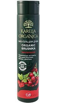 Био-гель для душа «Organic Brusnika» витаминный серии «Karelia Organica»