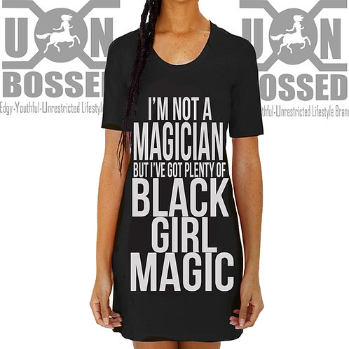 BLACK GIRL MAGIC OVERSIZED T-SHIRT DRESS