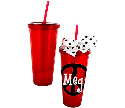 Red 24 oz. Double Wall Tumbler