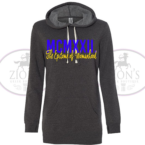 SORORITY HOODED SWEATSHIRT DRESS