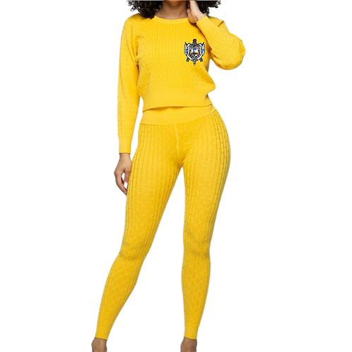 SGRHO KNIT TOP AND PANTS SET