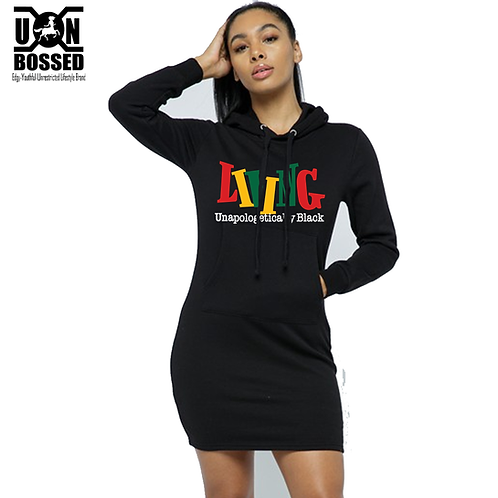 Living Unapologetically Black Hoodie Dress
