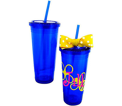 Blue 24 oz. Double Wall Tumbler
