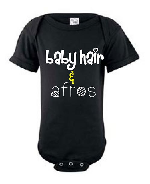 BABY HAIR AND AFROS ONESIE