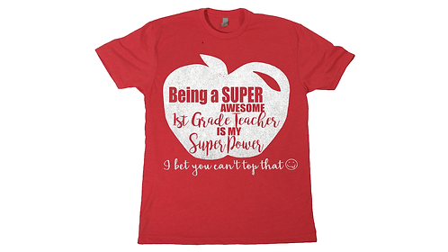 GLITTER SUPER TEACHER SHIRT