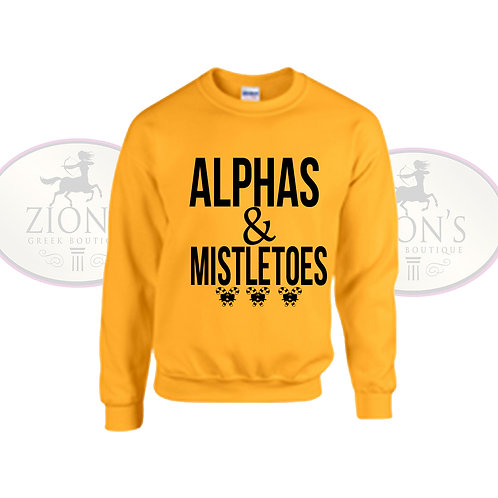 ALPHA MISTLETOE SWEATSHIRT