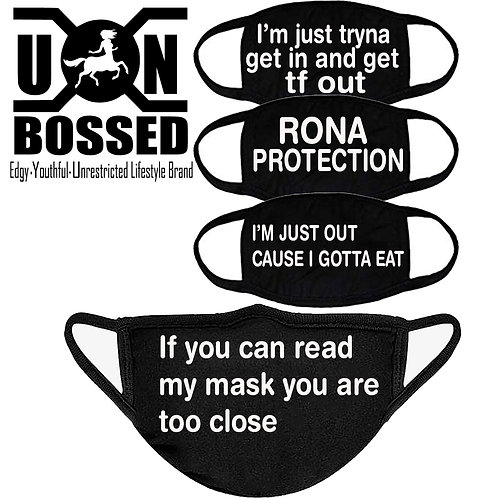 SOCIAL DISTANCING THEMED MASK