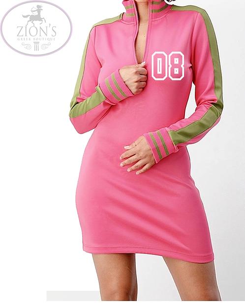 08  Half-Zip Track Dress