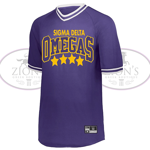 OMEGA RETRO V-NECK BASEBALL JERSEY